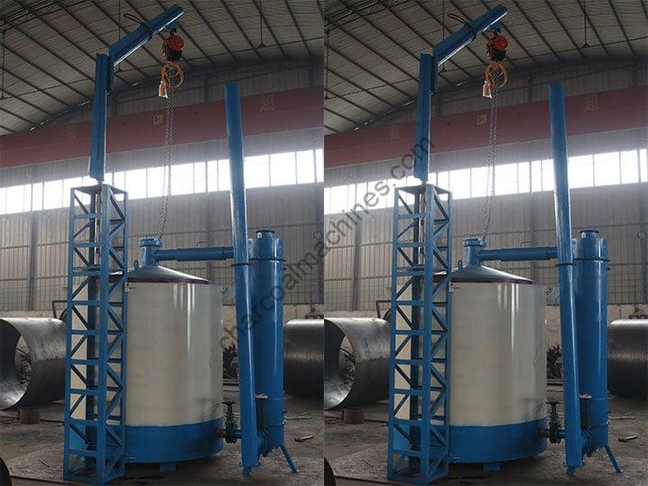 complete airflow hoisting carbonization furnace