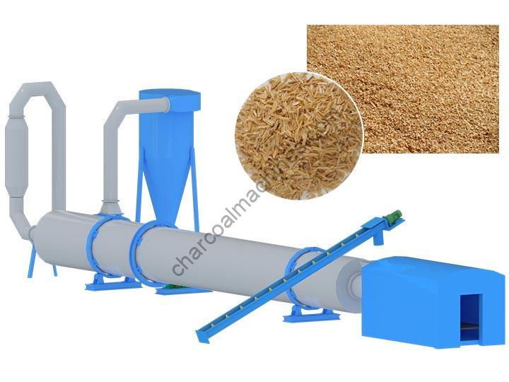 sawdust rice husk drying machine