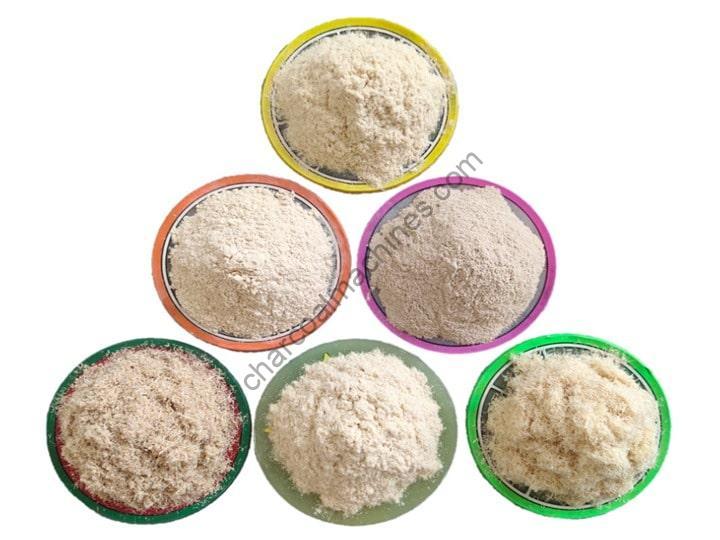 wood flour powder processing
