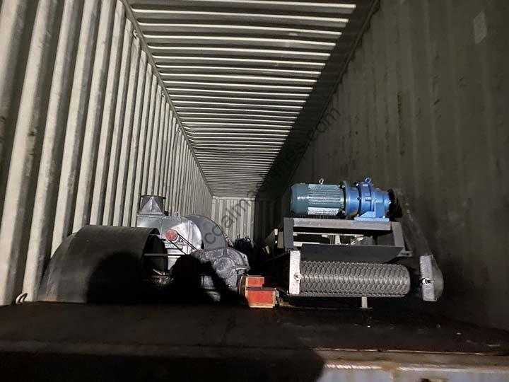 charcoal line pacakaging and shipping