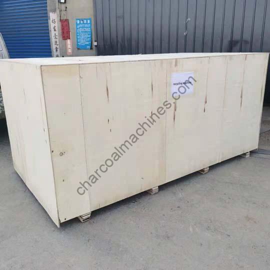 shipment of the Senegal charcoal briquette machine