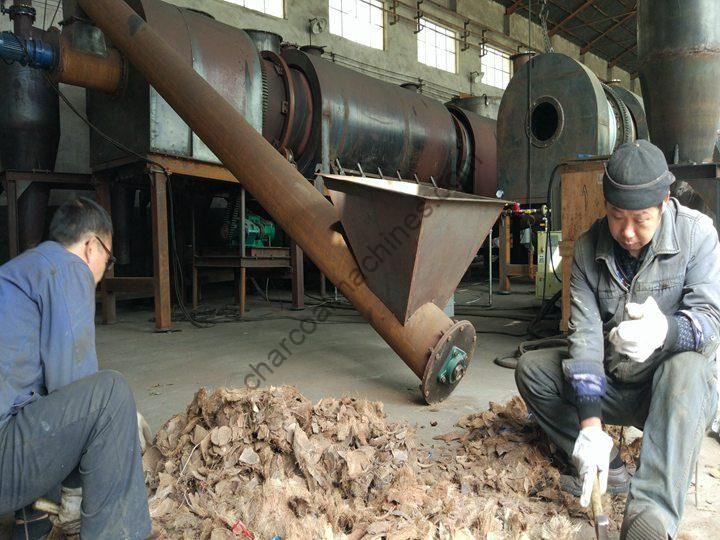 coconut shell charcoal making machine in Thailand
